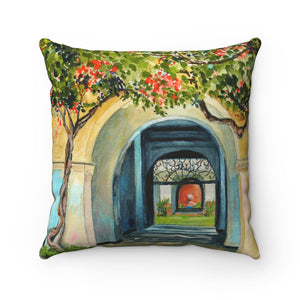 Pillow - Honolulu Courtyard, Debby Fleming-Mellor