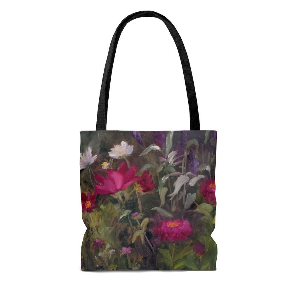 Tote Bag - Zinnias and Poppies in the Sun, Ferial Nassirzadeh