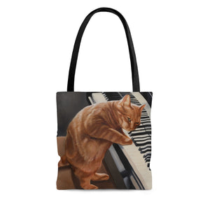 Tote Bag - Kitten on the Keys, Loretta McNair