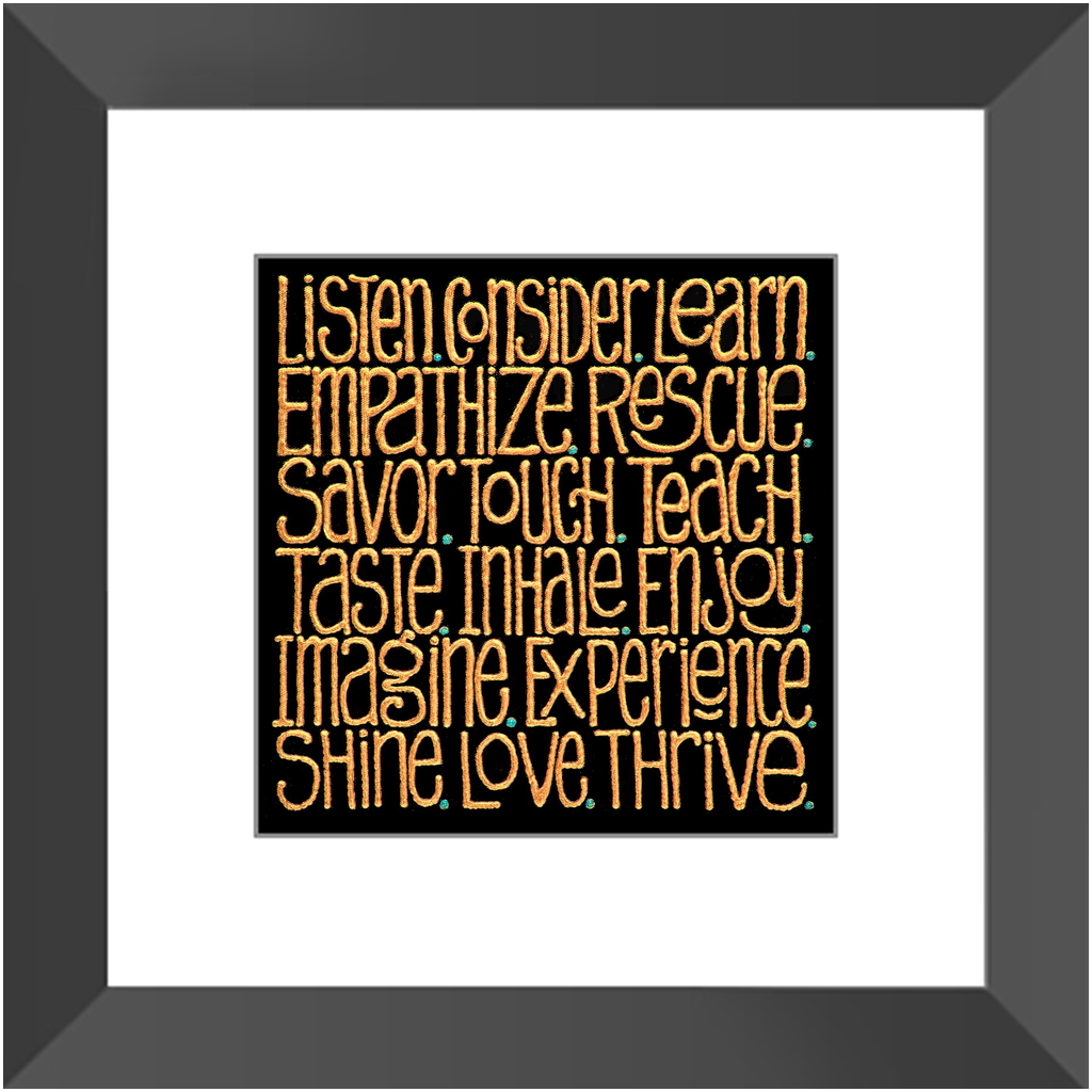 Framed Print -  Words to Cogitate, Laura Seeley