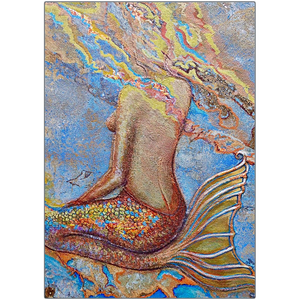 Metal Print - Sitting Mermaid, John Michael Dickinson
