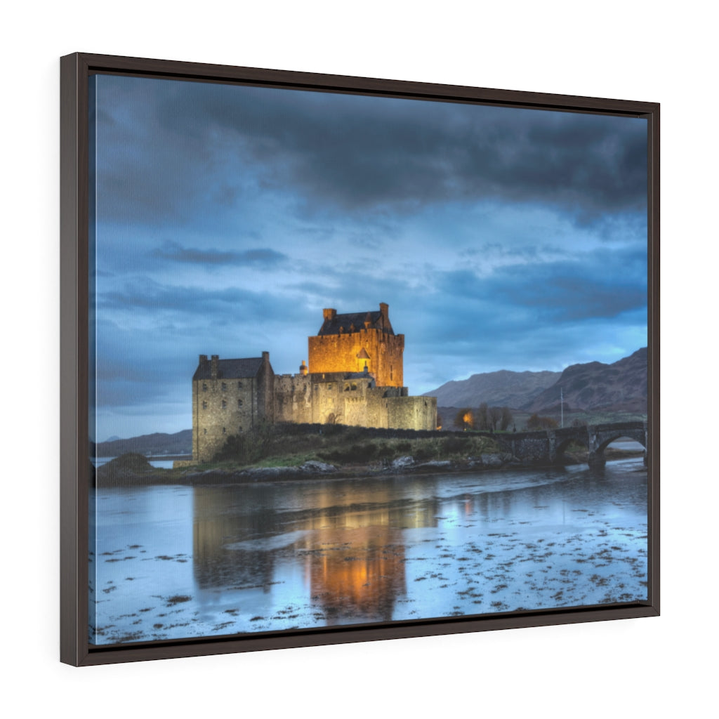 Framed Gallery Wrap - Eilean Donan Castle at Night - Scotland, Michael Cahill