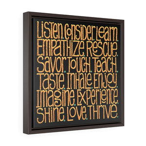 Framed Gallery Wrap Canvas - Words To Cogitate, Laura Seeley