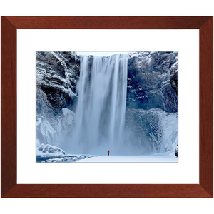 Framed Print - Skagafoss Falls Big and Red, Michael Cahill