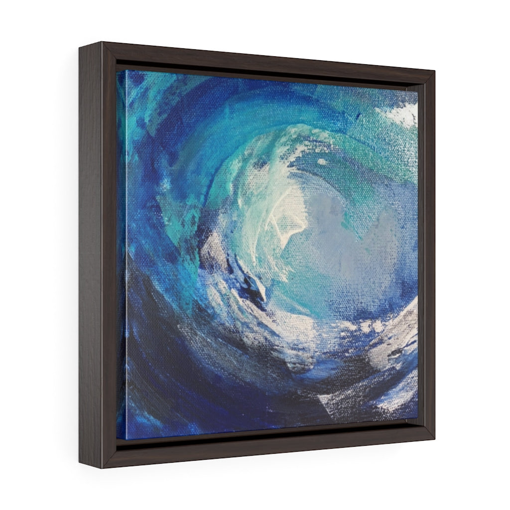 Framed Gallery Wrap Canvas - Wave Swirl, Laurie Miller