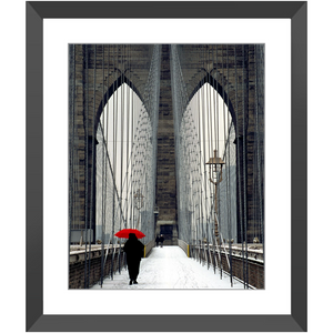 Framed Print - Red Umbrella, Michael Cahill