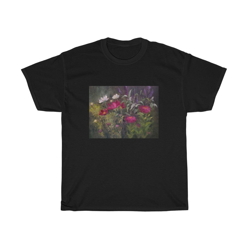 T-shirt - Zinnias and Poppies in the Sun, Ferial Nassirzadeh