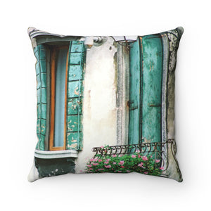 Pillow - Turquoise Shutters, Pam Fall