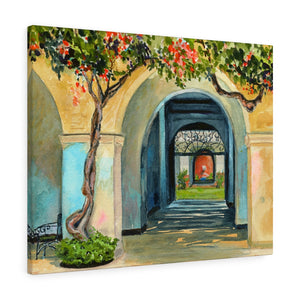Gallery Wrap - Honolulu Courtyard, Debby Fleming-Mellor