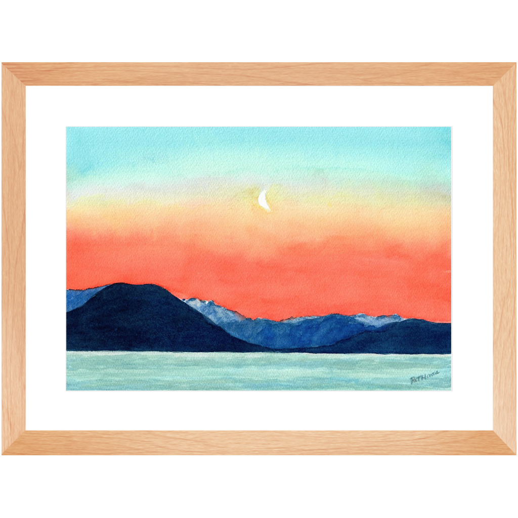 Framed Print - Moon Rising, Pat Haas
