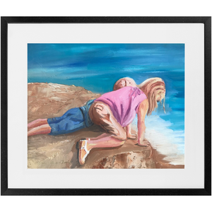 "Framed Print - ""What's Down There?"", Barbara Palmer-Davis"