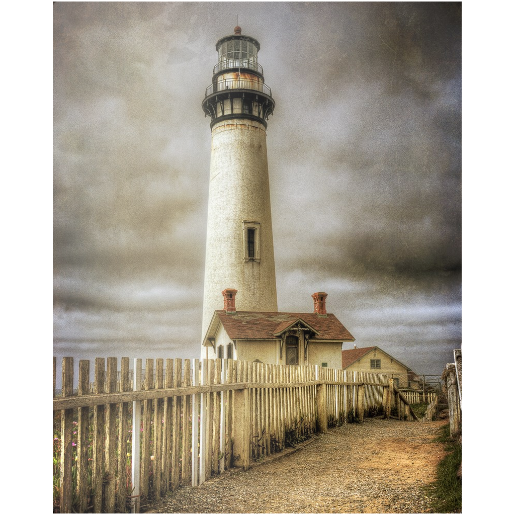 Metal Print - Pigeon Point - 2 Fence, Michael Cahill