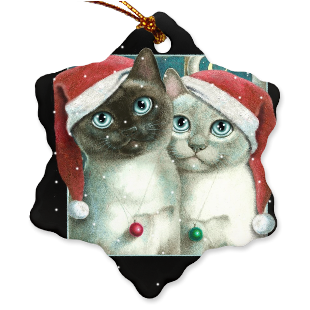 Porcelain Ornament - Nights in White Satin, Laura Seeley - Free Shipping