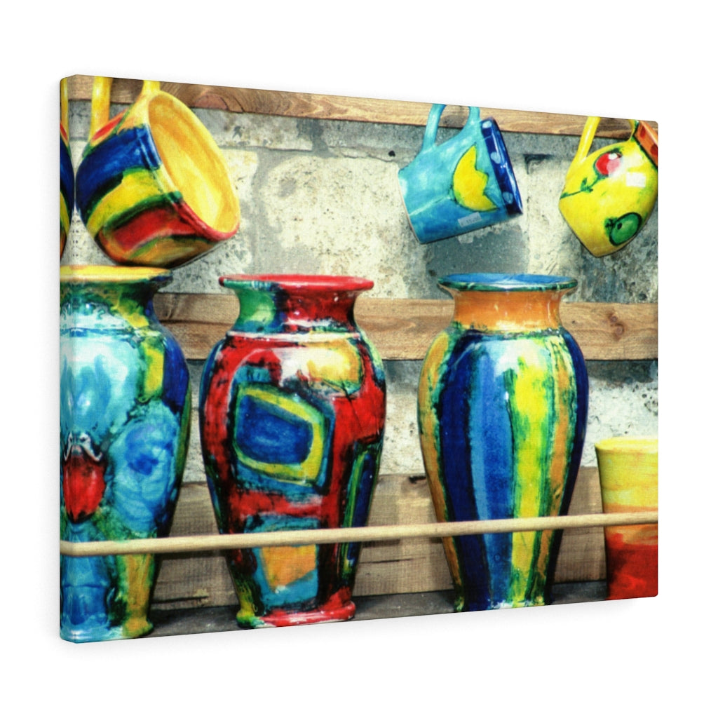Gallery Wrap - Tuscan Pottery, Pam Fall