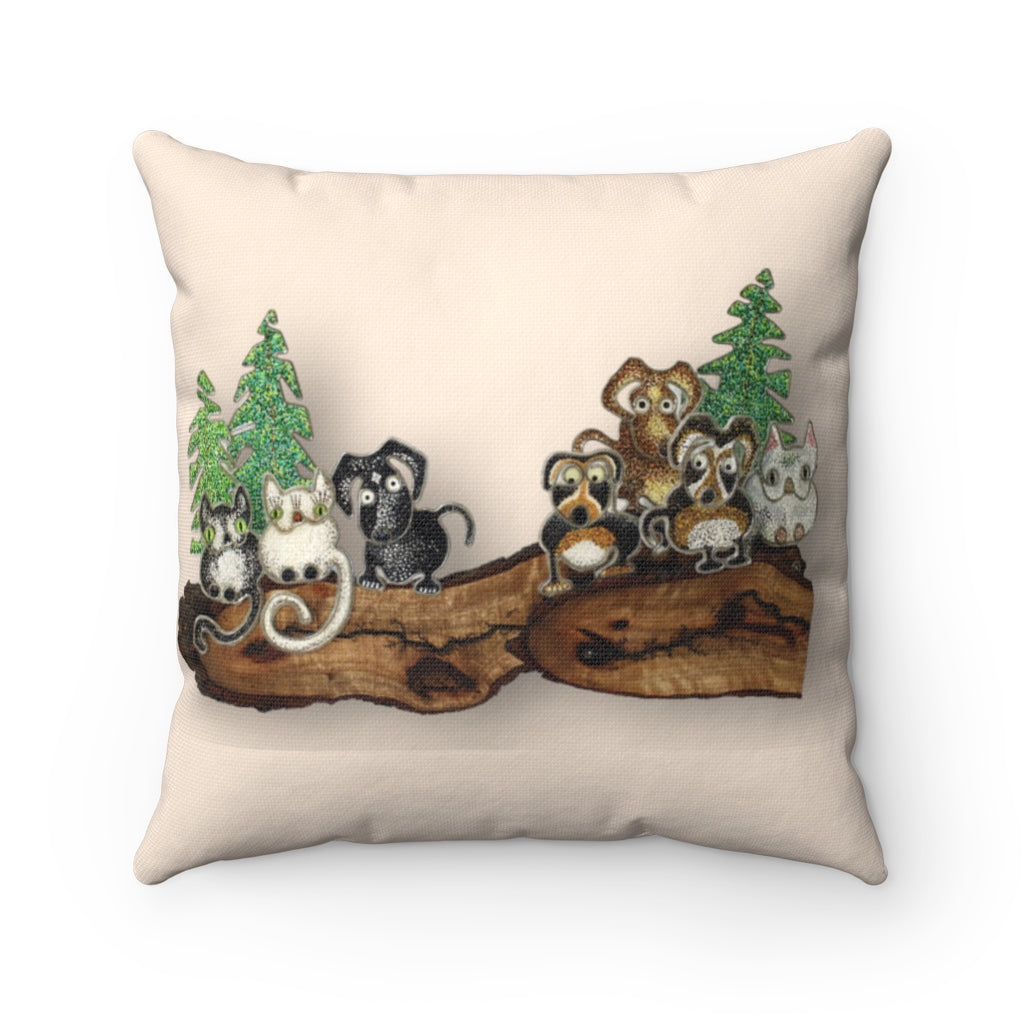 Pillow - Social Distancing (Pale Brown), Root Woods