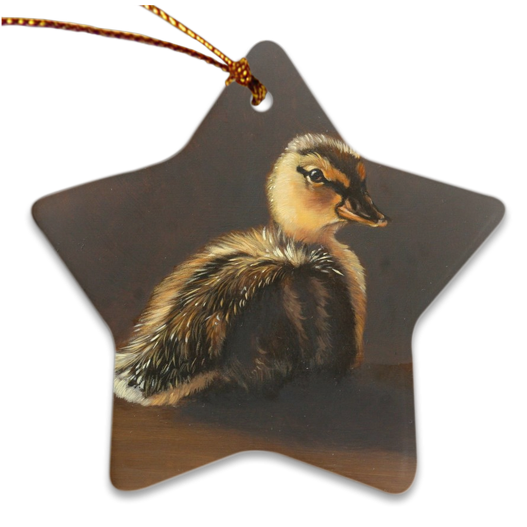 Porcelain Ornament - Just Ducky, Carol Heiman-Greene - Free Shipping