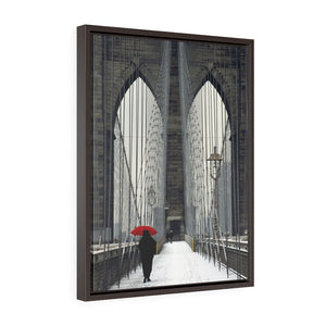 Framed Gallery Wrap Canvas - Red Umbrella, Michael Cahill