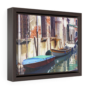 Framed Gallery Wrap - Boats on Canal, Pam Fall