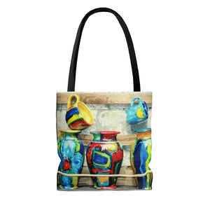 Tote Bag - Tuscan Pottery, Pam Fall