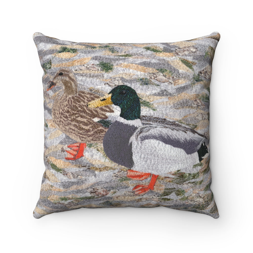Pillow - Suburban Wild - Ducks at the Lake, Loretta Alvarado