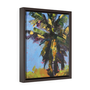 Framed Gallery Wrap Canvas - Frenzied Palm, Laurie Miller