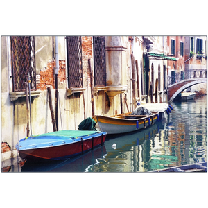 Metal Print - Boats on Canal, Pam Fall