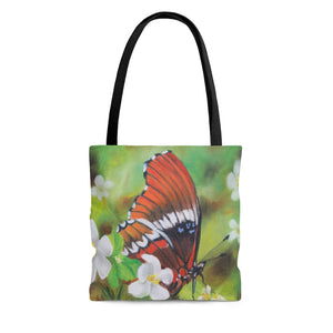 Tote Bag - Blue Spots Butterfly, Phoebe Siemion