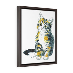 Framed Gallery Wrap - Calico Kitten, Pat Haas