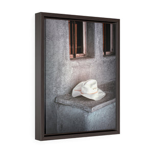Framed Gallery Wrap - The Worn Hat, New Mexico, Pat Cahill