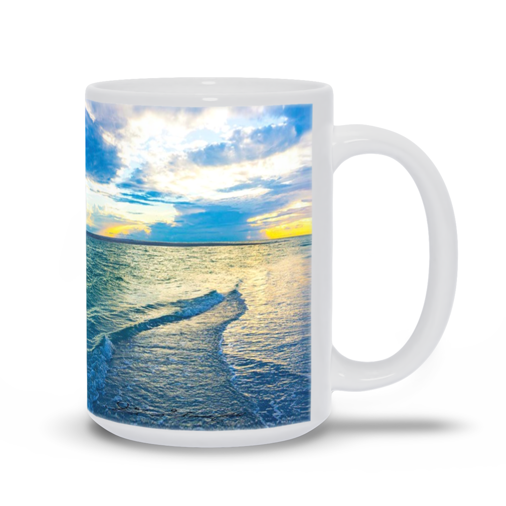Mug - Blue Sea Glass, Joy Garafola