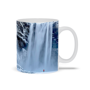 Mug - Skagafoss Falls Big and Red, Michael Cahill