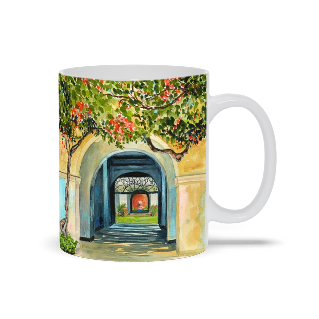 Mug - Honolulu Courtyard, Debby Fleming-Mellor