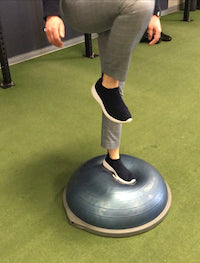 Try the Bosu Ball Step Up to add Strength and Balance