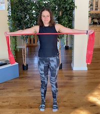 Alleviate Poor Posture and Shoulder & Neck Pain with a TheraBand Resistance Band