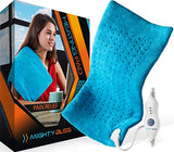"MIGHTY BLISS Large Electric Heating Pad for Back Pain and Cramps Relief -Extra Large [12""x24""] - Auto Shut Off - Heat Pad with Moist & Dry Heat Therapy Options - Hot Heated Pad"