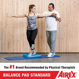 Airex Balance Pad - Exercise Foam Pad Physical Therapy, Workout, Plank, Yoga, Pilates, Stretching, Balancing Stability Mat, Kneeling Cushion, Mobility Strength Trainer for Knee, Ankle - Standard, Blue
