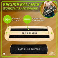 URBNFit Wooden Balance Board Trainer - Roller Board for Snowboard, Surf, Hockey Training & More -Balancing Exercise Fitness Equipment