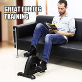 Mini Exercise Bike, AGM Digital Under Desk Bike Foot Cycle Arm & Leg Peddler Machine with LCD Screen Displays