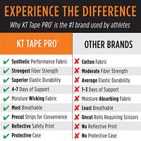 "KT Tape Pro Synthetic Kinesiology Therapeutic Sports Tape, 20 Precut, 10"" Strips"