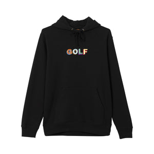 MULTI COLOR 3D GOLF HOODIE by GOLF WANG | Black