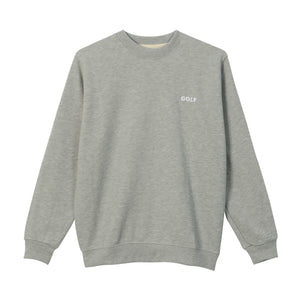 GOLF MINI LOGO CREWNECK by GOLF WANG | Heather Grey