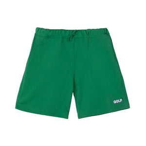 GOLF 3D 2 TONE LOGO SWEAT SHORTS by GOLF WANG | Forest Green