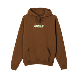 GOLF 3D 2 TONE LOGO HOODIE by GOLF WANG | Brown