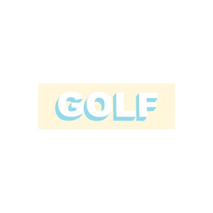 GOLF STICKER - TWO TONE by GOLF WANG | Cream