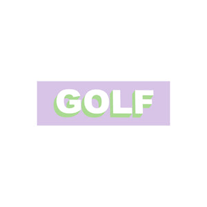 GOLF STICKER - TWO TONE by GOLF WANG | Lavender