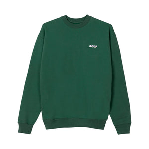 GOLF MINI 3D 2 TONE LOGO CREWNECK by GOLF WANG | Forest Green