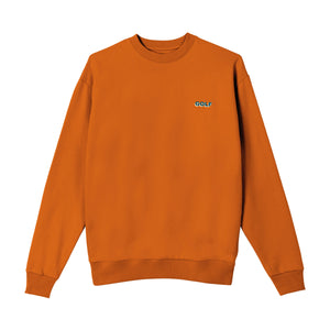 GOLF MINI 3D 2 TONE LOGO CREWNECK by GOLF WANG | Texas Orange
