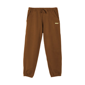 GOLF 3D 2 TONE LOGO TONE SWEATPANTS by GOLF WANG | Brown