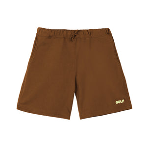 GOLF 3D 2 TONE LOGO SWEATSHORTS by GOLF WANG | Brown