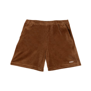 COOPER VELOUR SHORTS by GOLF WANG | Brown
